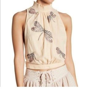 Free People Dragonfly Tie Top